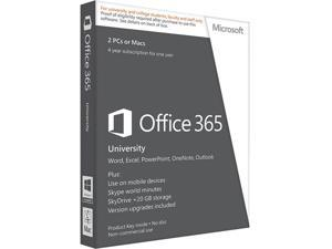 Microsoft Office 365 University English 4 Year Subscription Medialess