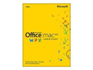 Microsoft Office Mac Home & Student 2011 Product Key Card