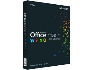 Microsoft Office Mac Home & Business 2011 Product Key Card (No Disc)