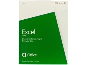 Microsoft Excel 2013 Product Key Card (no media) - 1 PC