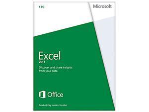 Microsoft Excel 2013 Product Key Card (no media) - 1 PC