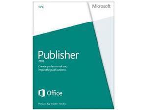 Microsoft Publisher 2013 Product Key Card (no media) - 1 PC
