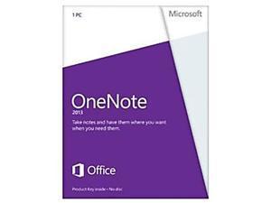 Microsoft OneNote 2013 Product Key Card (no media) - 1 PC