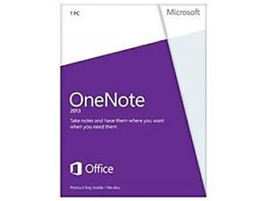 Microsoft OneNote 2013 Product Key Card (no media) Non-Commercial - 1 PC