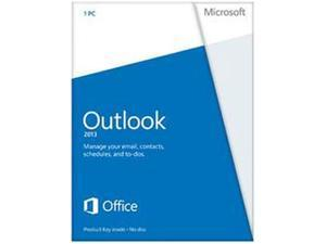 Microsoft Outlook 2013 Product Key Card (no media) - 1 PC
