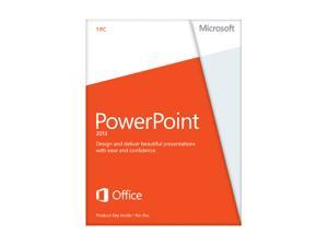 Microsoft PowerPoint 2013 Product Key Card (no media) Non-Commercial - 1 PC
