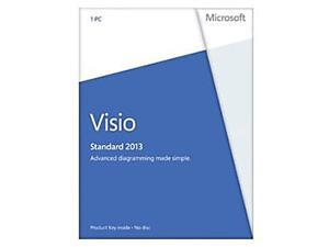 Microsoft Visio Standard 2013 Product Key Card (no media) - 1 PC