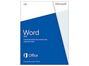 Microsoft Word 2013 Product Key Card (no media) Non-Commercial - 1 PC
