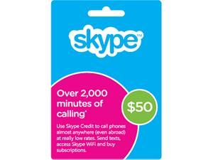 Skype $50 Prepaid Credit