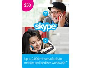 $50 Skype Prepaid Credit (Digital Delivery)
