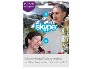 Skype - Prepaid 12 Month Unlimited US & CA Subscription