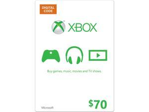 Microsoft Xbox Gift Card $70 US (Email Delivery)