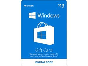Microsoft Windows Store Gift Card - $13 (Email Delivery)