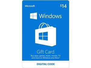Microsoft Windows Store Gift Card - $14 (Email Delivery)