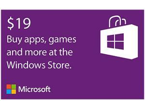 Microsoft Windows Store Gift Card - $19 (Email Delivery)