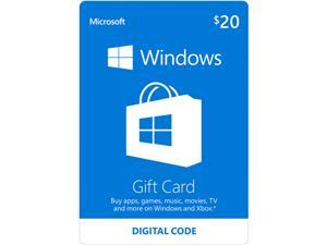Microsoft Windows Store Gift Card - $20 (Email Delivery)