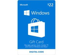 Microsoft Windows Store Gift Card - $22 (Email Delivery)