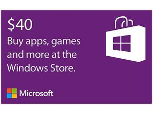 Microsoft Windows Store Gift Card - $40 (Email Delivery)