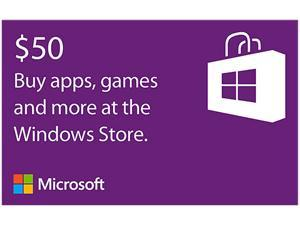 Microsoft Windows Store Gift Card - $50 (Email Delivery)