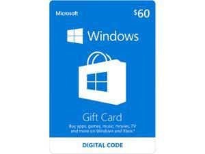 Microsoft Windows Store Gift Card - $60 (Email Delivery)