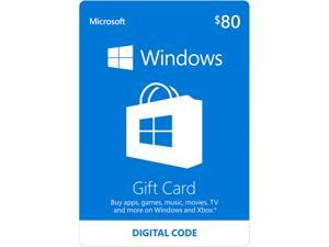 Microsoft Windows Store Gift Card - $80 (Email Delivery)