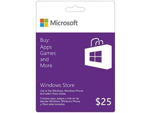 Microsoft Windows Gift Card $25