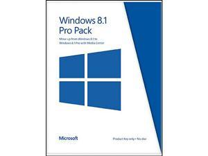 Microsoft Windows 8.1 Pro Pack (Win 8.1 to Win 8.1 Pro Upgrade) - Online Code