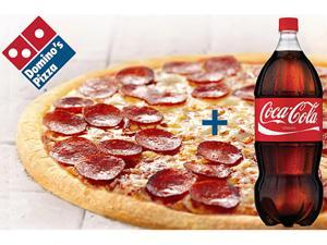 Domino's 1 Large Pizza (2 Toppings) + 2 Liter Coke