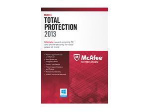 McAfee Total Protection 2013 - 3 PCs + $10 Newegg promotional gift card