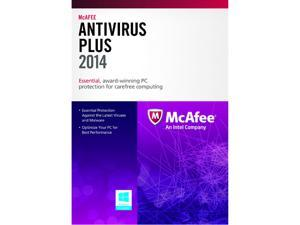 McAfee AntiVirus Plus 2014 - 3 PCs (Product Key Card)