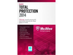 McAfee Total Protection 2014 - 1 PC (Product Key Card)