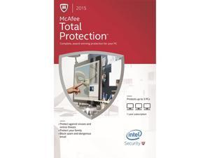 McAfee Total Protection 2015 - 3 PCs