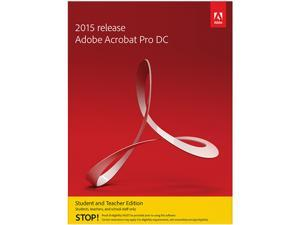 Adobe Acrobat Pro DC for Windows - Student & Teacher - Download
