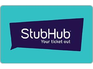 Stubhub $50.00 Gift Card (Email Delivery)