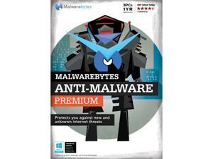 Malwarebytes Anti-Malware Premium - 3 PCs / 1 Year - Download