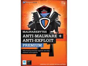 Malwarebytes Anti-Malware Premium + Anti-Exploit Premium - 3 PCs / 1 Year - Download
