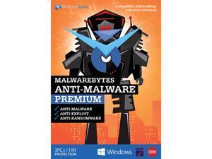 Malwarebytes Anti-Malware Premium – 3 PCs (Key Card)