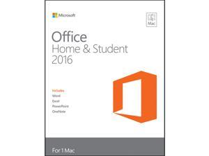 Microsoft Office Home for Student 2016 Product Key Card - 1 Mac