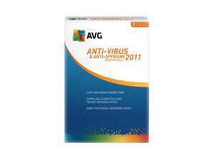AVG Antivirus & Antispyware 3-User 2011