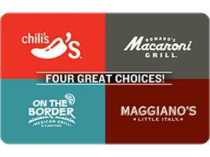 Chili's 4-Choice $50 Gift Card (Email Delivery)