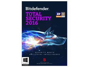 Bitdefender Total Security 2016 - 3 PCs 1 Year - Download