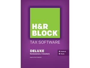 H&R BLOCK Tax Software Deluxe + State 2015 - Windows Download