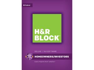 H&R BLOCK Tax Software Deluxe 2016