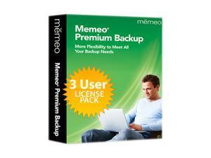 memeo Premium Backup v.4.0 with 1 GB Cloud 3User