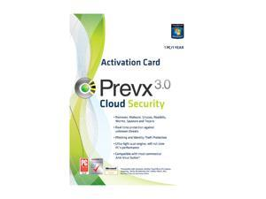 Prevx Cloud Security 1 User Product Key Card (no media)