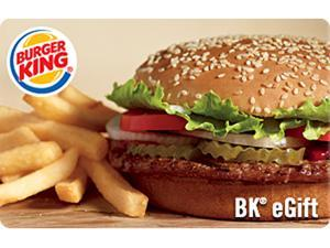 Burger King $45 Gift Card - (Email Delivery)