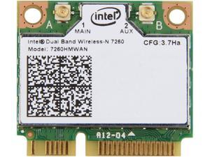 Intel 7260HMW AN IEEE 802.11 Dual Band N600 Mini PCI Express Wi-Fi plus Bluetooth 4.0 Combo Adapter, 2.4GHz 300Mbps/5GHz ...