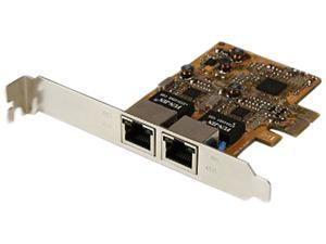 StarTech ST1000SPEXD3 PCI Express x1 Male Dual Port Gigabit Server Network Adapter Card