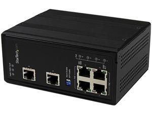 StarTech IES61002POE Unmanaged 6 Port Industrial Gigabit Ethernet Switch with 4 PoE+ Ports - DIN Rail / Wall-Mountable