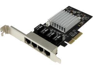 StarTech ST4000SPEXI 4-Port Gigabit Ethernet Network Card - PCI Express, Intel I350 NIC